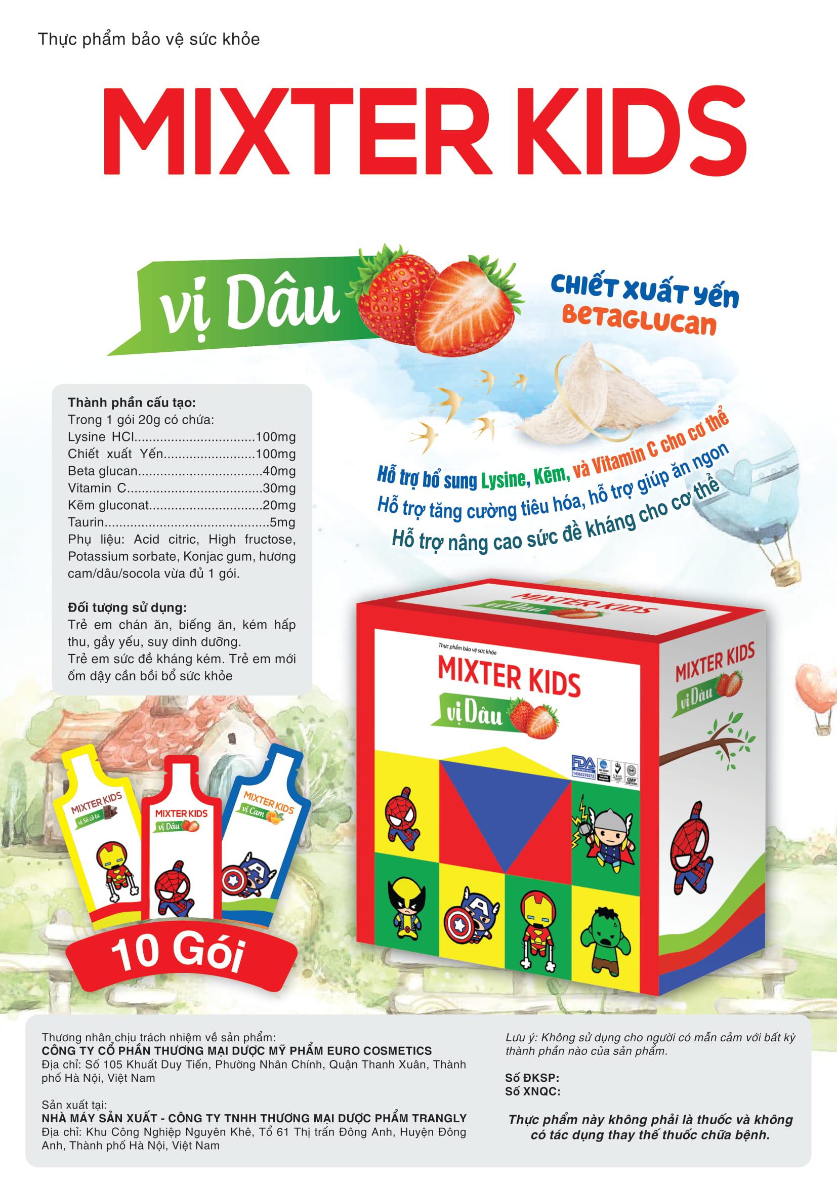 Thực phẩm bảo vệ sức khỏe MIXTER KIDS